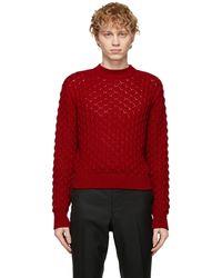 Johnlawrencesullivan - レッド Cable Knit セーター - Lyst