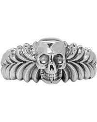 Emanuele Bicocchi - Silver Skull Ring - Lyst