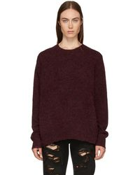6397 - Red Alpaca And Wool Crewneck Sweater - Lyst
