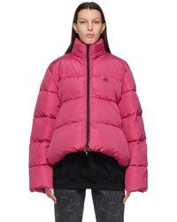 Balenciaga - ピンク C-shape Bb パファー ジャケット - Lyst