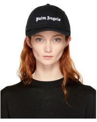 Palm Angels - Black Logo Cap - Lyst