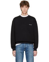 Balenciaga - Black Small Logo Sweatshirt - Lyst
