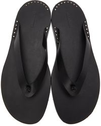 Jil Sander Black Toe Post Flip Flops