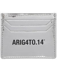 Axel Arigato シルバー Est 14 シグネチャ カード ホルダー - メタリック
