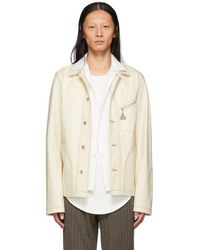 Loewe - Off-white Denim Botanical Jacket - Lyst