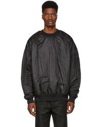 Juun.J - Reversible Black Panelled Pullover Sweatshirt - Lyst