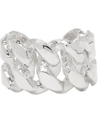 Pearls Before Swine - Silver Sliced Link Ring - Lyst