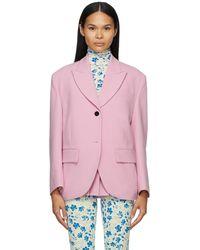 Pushbutton Single Box Blazer - Pink