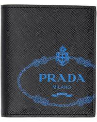 Prada - ブラック And ブルー サフィアーノ ウォレット - Lyst