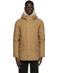 Army by Yves Salomon Brown Down & Fur Jacket