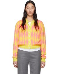 Ashley Williams Ssense Exclusive Yellow And Pink Wool Cardigan