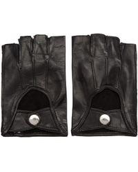 Ann Demeulemeester   Black Joris Fingerless Gloves   Lyst