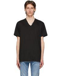 Calvin Klein ブラック V ネック クラシックフィット T シャツ 3 枚セット