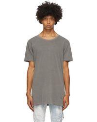 Ksubi グレー ディストレス T シャツ