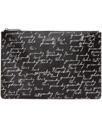 Givenchy | Black All Over Logo Pouch | Lyst