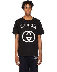 Gucci - ブラック GG ロゴ T シャツ - Lyst