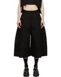 Simone Rocha Pantalon ample noir Sculpted