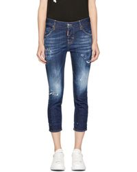DSquared² - Indigo Cool Girl Crop Jeans - Lyst