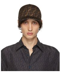 Fendi Brown And Black Forever Cap - Blue
