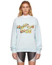 Martine Rose Blue Googly Eyes Sweatshirt