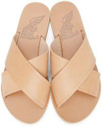Ancient Greek Sandals Tan Thais Sandals - Natural