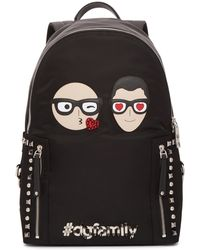 Dolce & Gabbana | Black Designer Heads Backpack | Lyst