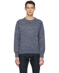 RRL Blue Marled Sweater