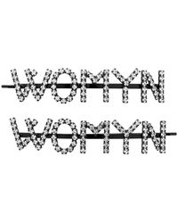 Ashley Williams Ssense Exclusive Black And Transparent Womyn Hair Clips - Multicolour