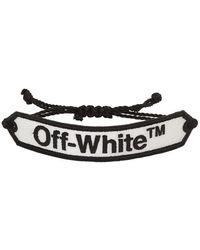 Off-White c/o Virgil Abloh ホワイト ロゴ マクラメ ブレスレット