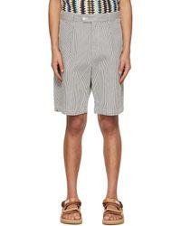 Engineered Garments Enginee Garments Seersucker Stripe Sunset Shorts - Multicolour