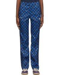 Wales Bonner Pantalon de survêtement à motif tartan bleu édition Adidas