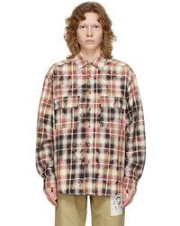 Rassvet (PACCBET) Bleached Check Shirt - Brown