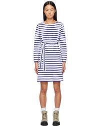 A.P.C. ホワイトブルー Florence ドレス