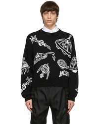 Moschino ブラック Spaceship セーター