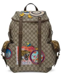 Gucci - Beige Gg Supreme Donald Duck Backpack - Lyst