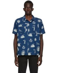 RRL - Indigo Aloha Camp Shirt - Lyst