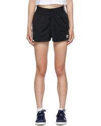 adidas Originals ブラック 3 ストライプ ショーツ