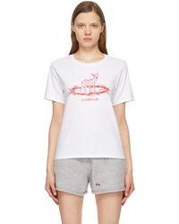 Undercover T-shirt blanc Deer