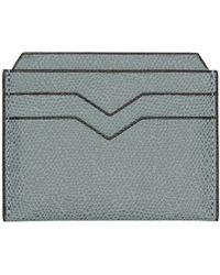 Valextra - Blue 4cc Card Holder - Lyst