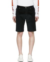 KENZO - Green Corduroy Shorts - Lyst
