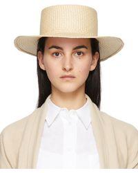 Loro Piana Beige Meynadier Hat - Natural