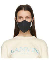 Lanvin Ensemble de deux masques a logo noir et bleu marine - Multicolore