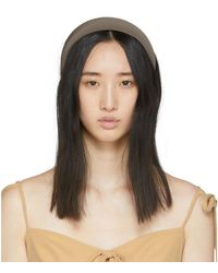 Sophie Buhai Taupe Classic Puffy Headband - Brown