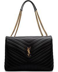 Saint Laurent - Black Large Loulou Chain Bag - Lyst