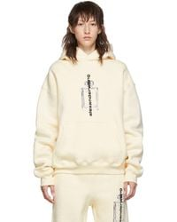 Alexander Wang - Off-white Graphic Hoodie - Lyst