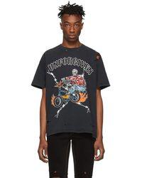 Warren Lotas - Ssense Exclusive Black Unforgiven Destroyed T-shirt - Lyst