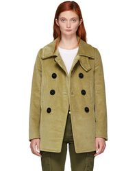 DSquared² - Beige Corduroy Peacoat - Lyst