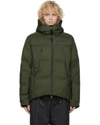 3 MONCLER GRENOBLE Green Down Planaval Jacket