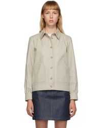 A.P.C. Beige 70s Double Jacket - Natural