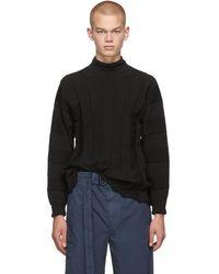 Issey Miyake Black Fit Knit Turtleneck
